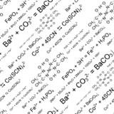 Seamlessly vector wallpaper chemistry scribbles on white poster