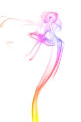 Abstract color smoke