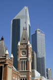 View at the financial district of midtown Perth in Australia poster
