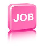 Job Sign - pink poster