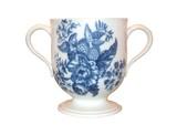 A Two Handled Porcelain Mug. poster