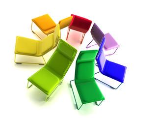 modern armchairs 3D