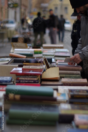 Flea Market Detail: vintage books