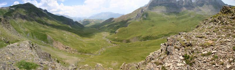 hacia valle ibón sierra