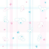 Fototapety Cute seamless pattern with dogs