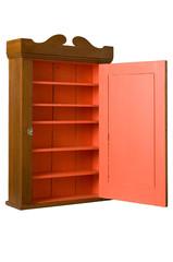 Antique Wooden Cabinet - 3/4 Right - Open Door