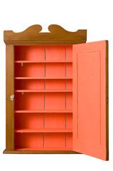 Antique Wooden Cabinet with Open Door