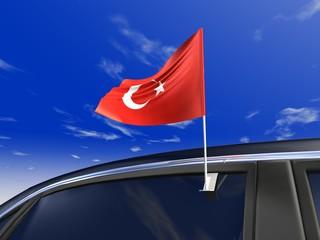 Auto-fahne Türkei