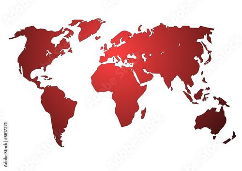 Planisphère : l'europe au coeur du monde