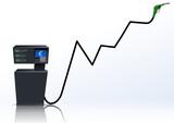 Augmentation du prix des carburants (euro) poster