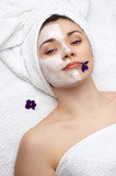 beauty salon series: facial mask poster