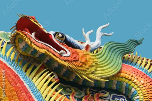Asian temple dragon - 6823051