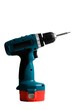 Cordless power drill on a white background