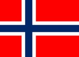 red and blue flag of norway with official proportion