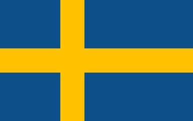 blue and yellow flag of sweden with official proportion
