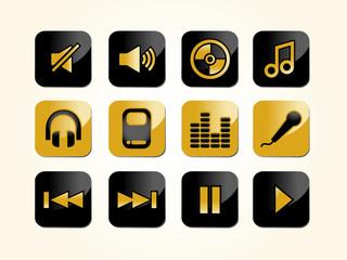 Audio, Musik und Hifi Icons