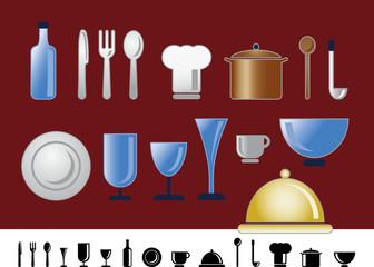 Dinner und Küchen Icons
