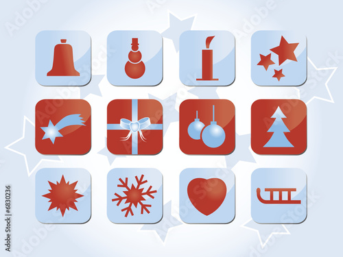 Winter holiday & christmas icons