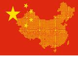 bandeira mapa china poster
