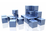 Fototapety blue cubes