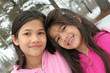 Two girls enjoying the winter