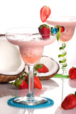 Most popular cocktails series - Strawberry Colada poster