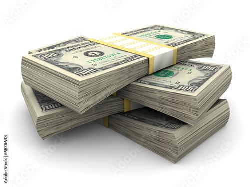 Leinwandbild Motiv Stack of $100 bills