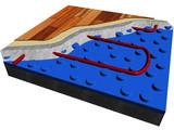 Heating floor poster