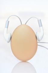 uovo con cuffiette