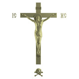Only Golden Catholic Cross with the Crucifixion.
