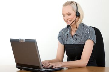 attractive customer support agent