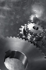 gear mechanism in dark toning