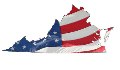 U.S. flag over Virginia