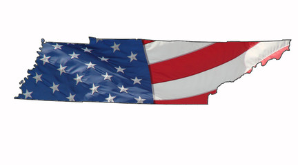 U.S. flag over Tennessee