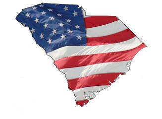 U.S. flag over South Carolina