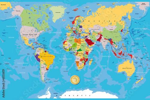 Foto op Plexiglas Wereldkaart weltkarteALL