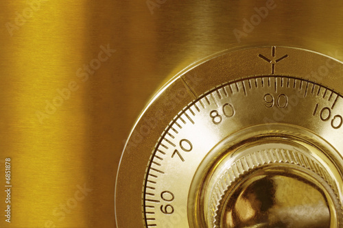 Golden Safe Lock