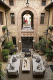 Luxury home courtyard. poster