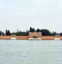 ïle du cimetière, lagune de venise, Italie.