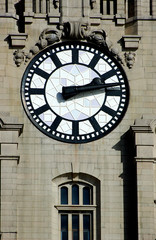 clock face on the mersey