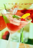 Alcoholic summer recreational drink - shallow DOF poster