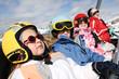 Ski famille sur télésiege