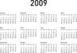 Simple Calendar for 2009 (2009_d1)