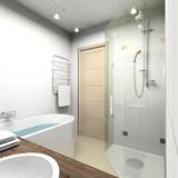 Fototapety Modern bathroom. 3D render