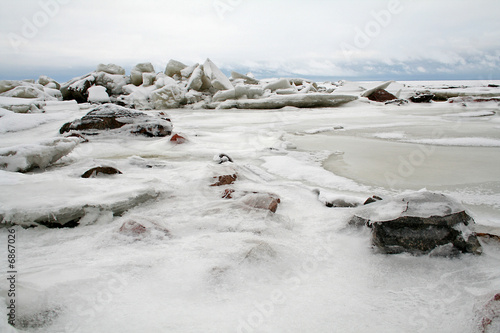 STONES LANDSCAPE ICE SEA