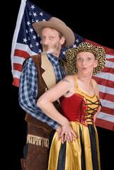 Senior cowboy couple