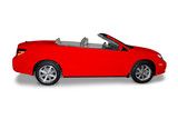 Red Convertible  Car poster