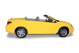 Yellow Convertible  Car poster