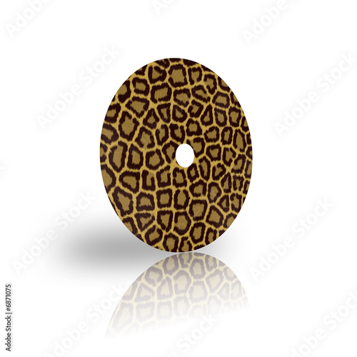 laser disk template with leopard fur