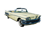 large yellow convertible poster
